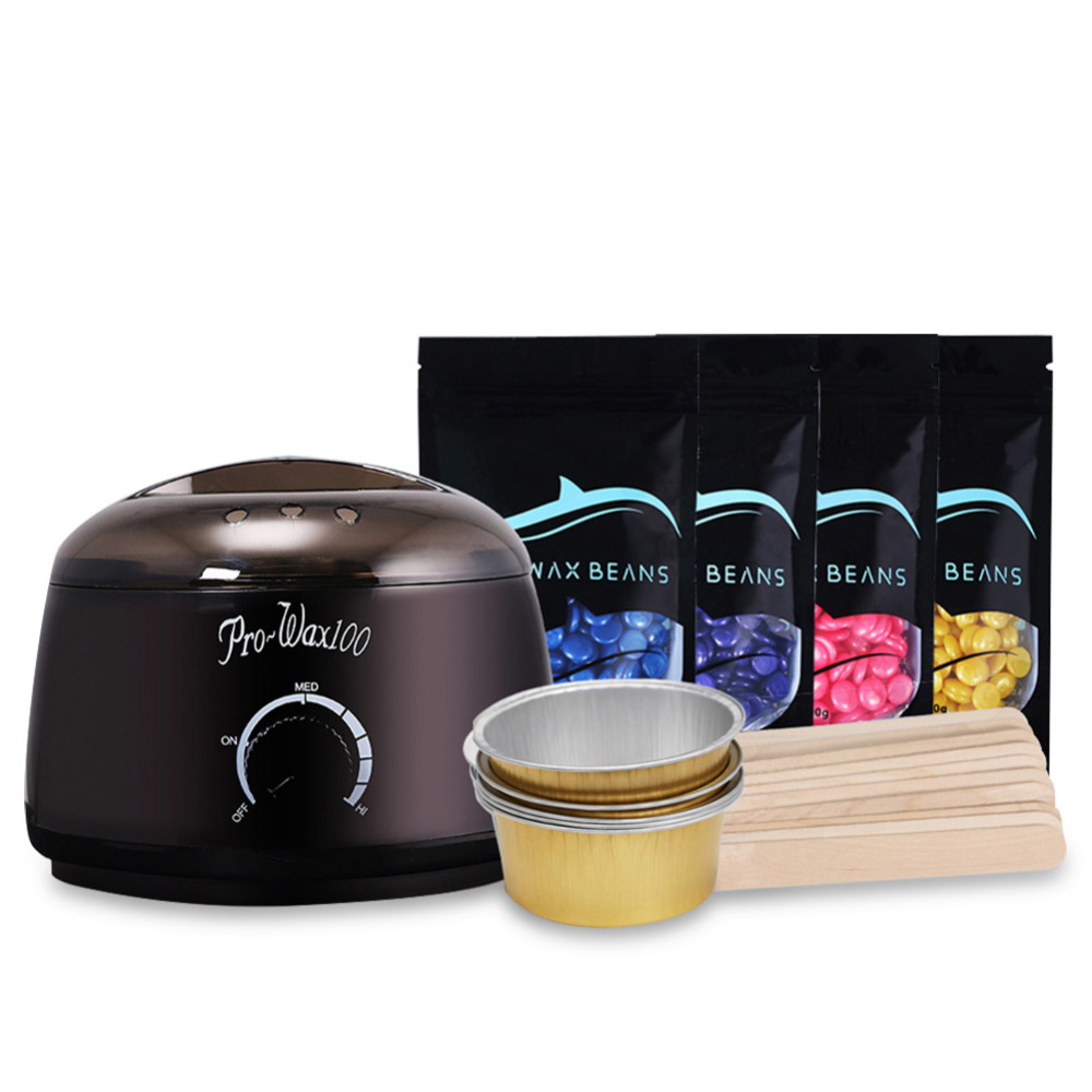 New Depilatory Wax Beans 500CC Electric Melting Wax Machine Wiping Sticks Foil Bowl Paper free Hair Removal in Hair Removal Cream from Beauty Health
