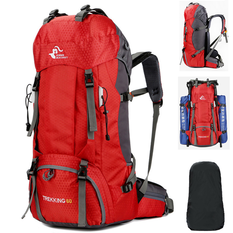 60L Hiking Backpacks Men's Sports Bags Nylon Camp Travel Pack Women Treking Waterproof Outdoor Backpacks Ultra-light Bags
