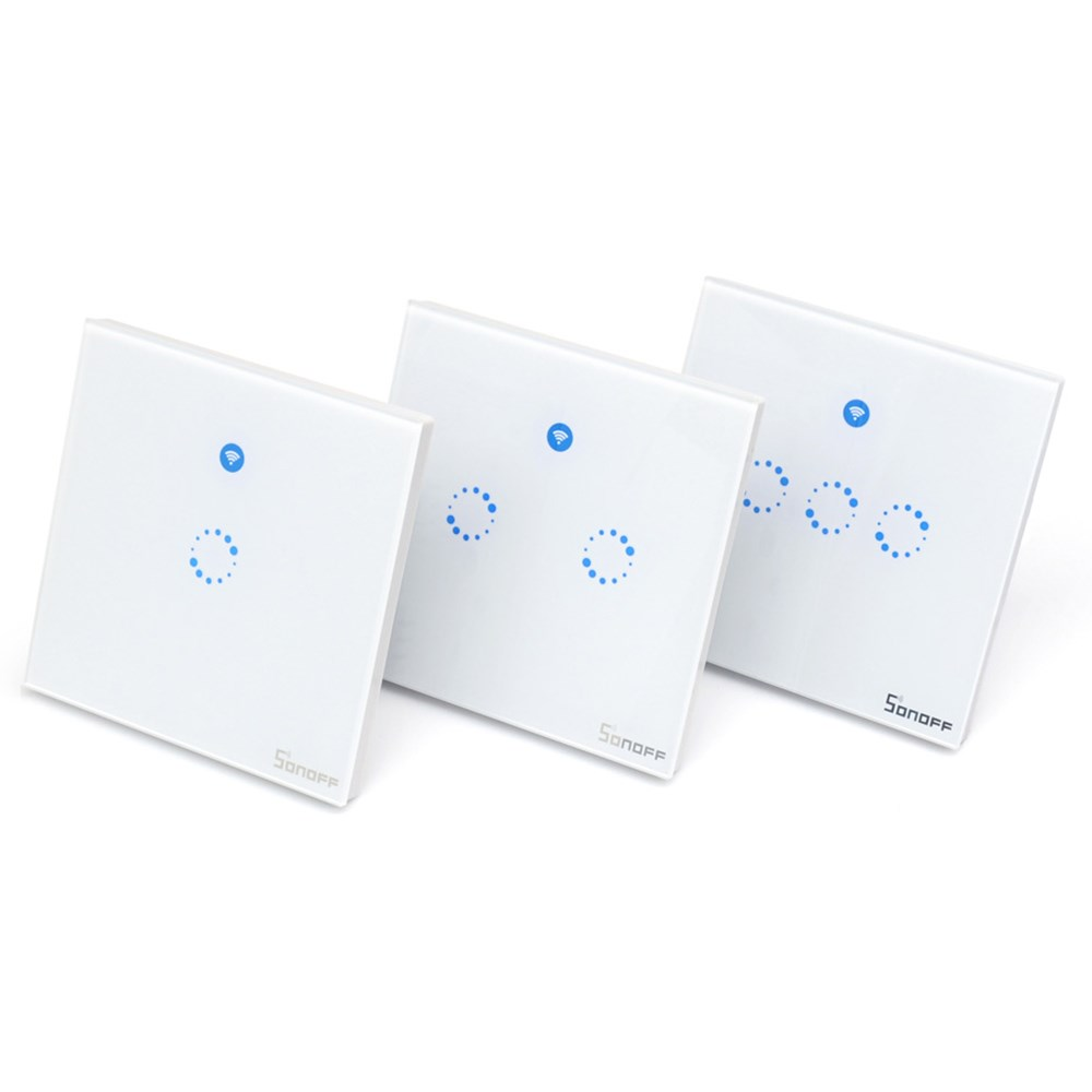 Sonoff T1 EU UK Smart WiFi RF 433 APP Touch Control Wall Light Switch 1 2