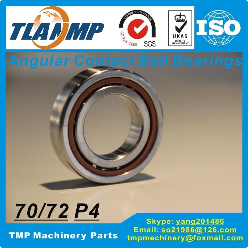 7016c 7016ac tyn su p4 db/df/dt 각도 접촉 볼 베어링 (80x125x22mm) 정밀 스핀들 베어링