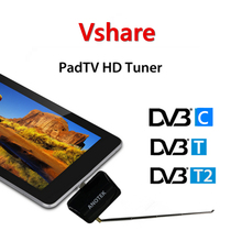 Micro USB TV receptor T2 Del DVB DVB-T2 DVB-T DVB-C TV en Android Teléfono/Table/ordenador Windows/Pad Pad TV Sintonizador de TV USB stick