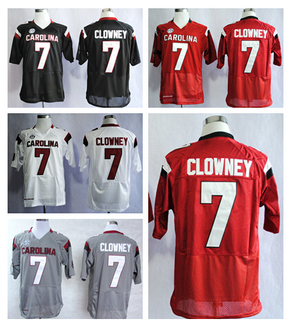 538361a15 Hot Discount 7 Jadeveon Clowney College Jersey American South Carolina  Gamecocks Football Jerseys Home Road Red Black White Gray