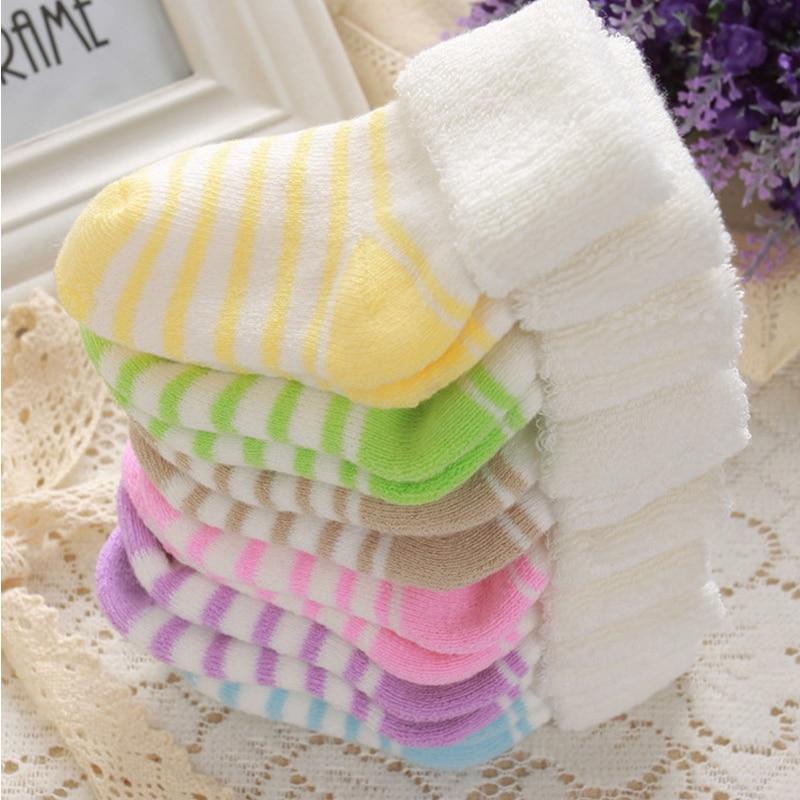 Baby Boys Girls Warm Cotton Socks For 0-3Y Baby Girl Socks Newborn Socks Infant Socks S2