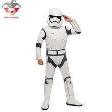 Star Wars Storm Trooper Costume for Boys The Force Awakens Troopers Cosplay Carnival Halloween Kids with Mask
