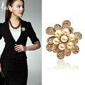 Iutopian elegante broches de flor broche com pérola simulado festa da alta qualidade jóias dropship # ra50605