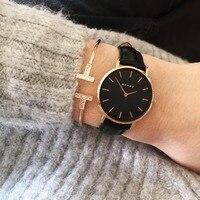KLARF Famous Brand Women Watches Stainless Steel Golden Mesh Quartz Wristwatches Fashion Women Clock Ladies Watch