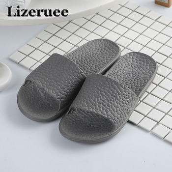 2018 Summer Beach Men Shoes Casual Couple Sandals Slippers Summer Outdoor Flip Flops Flats Non-slip Bathroom slippers Q89 2020 summer cool rhinestones slippers for male gold black loafers half slippers anti slip men casual shoes flats slippers wolf