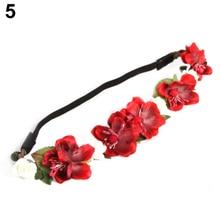 Hot Women Girls Bohemian Floral Flower Rose Party Wedding Hair Wreaths Headband Hair Band 5BRD 7GJ6