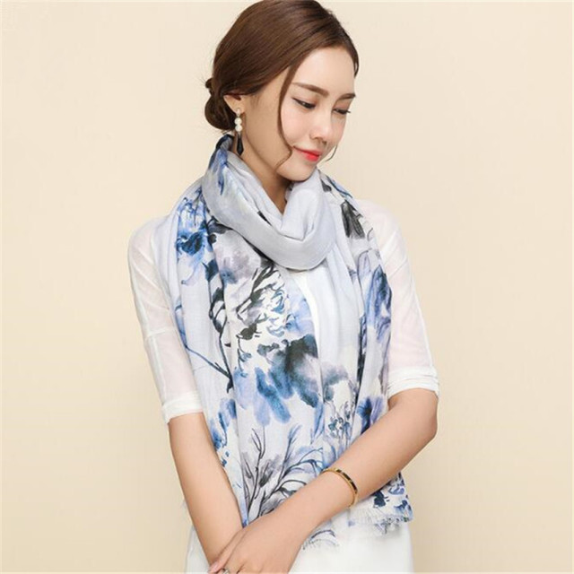 winter scarf women 2016 new Australia wool printing lattice grace Multi-function Sunscreen bandana horse hijab shawl silk scarf