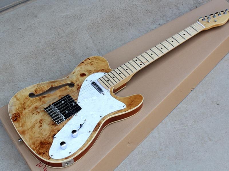 Factory Wholesale Wood Color Semi hollow Electric Guitar ...