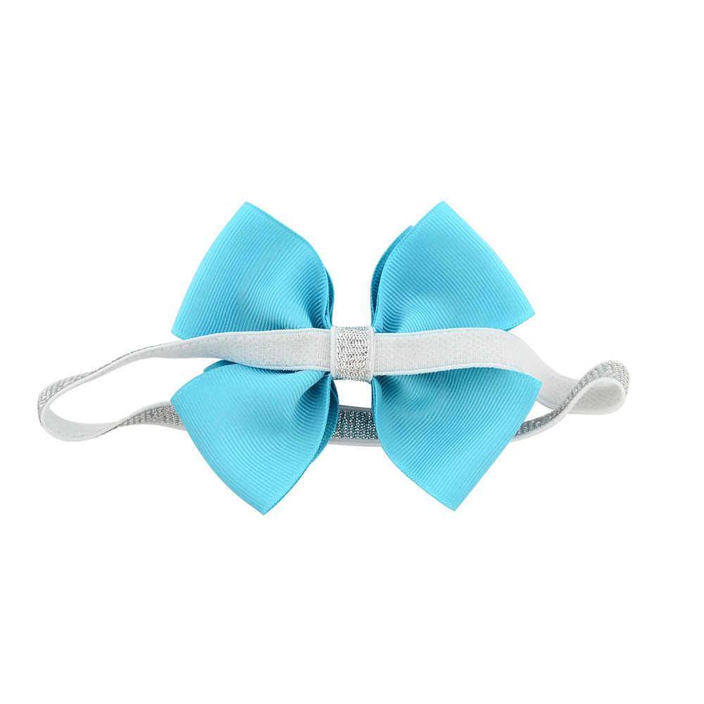 1 piece ילדי עיצוב חדשים חמוד קטן פרפר בגימור Bow-knot כסף רצועת הכלים Bow שיער אלסטי להקות שיער אביזרי 724