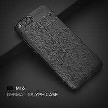 ФОТО  Xiaomi Mi 6 TPU Vintage Soft Phone Case Bag   Durable Anti-fingerprint Leather Back Case Cover  Mi Max 2 Mi 6