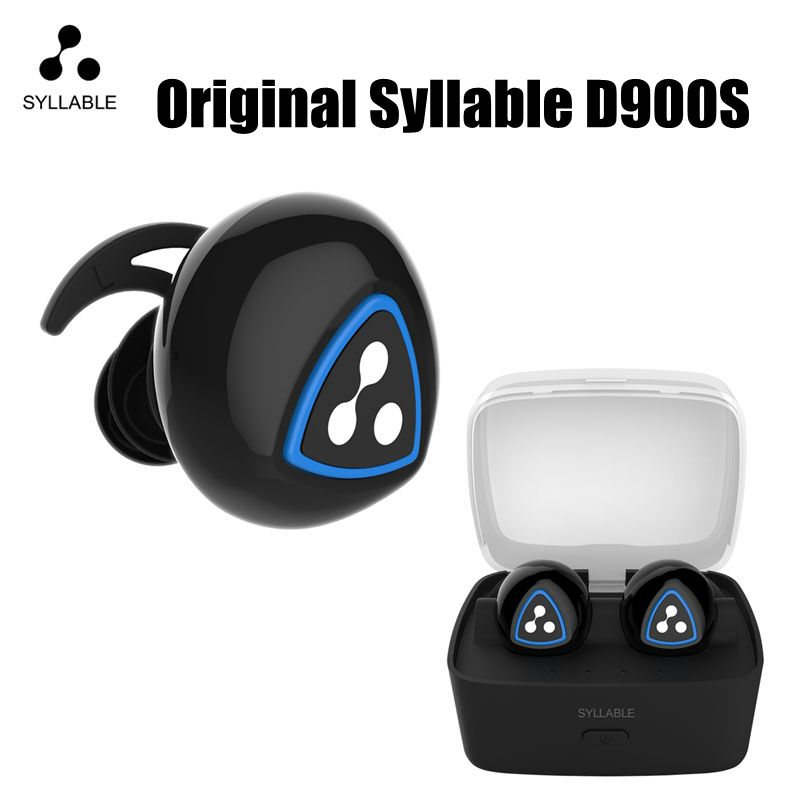 New Original Syllable D900S Earphone Wireless Bluetooth 4.0 Apt-x IPX4 Waterproof Earbud Earphone Sports For Android Phone IOS morul u5 plus wireless bluetooth earbud earphone bt 4 1 waterproof