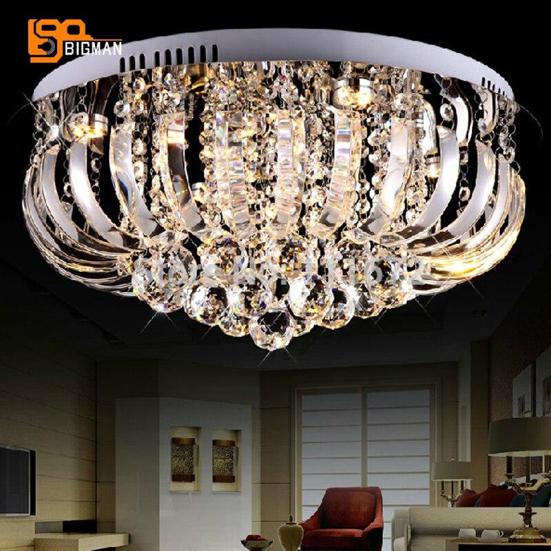 hot selling modern K9 crystal chandelier in bedroom LED lighting