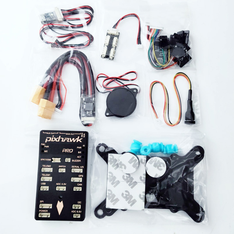 Pixhawk PX4 Autopilot PIX 2 4 8 32 Bit Flight Controller with Safety Switch  and Buzzer 4G SD and I2C Splitter Expand Module