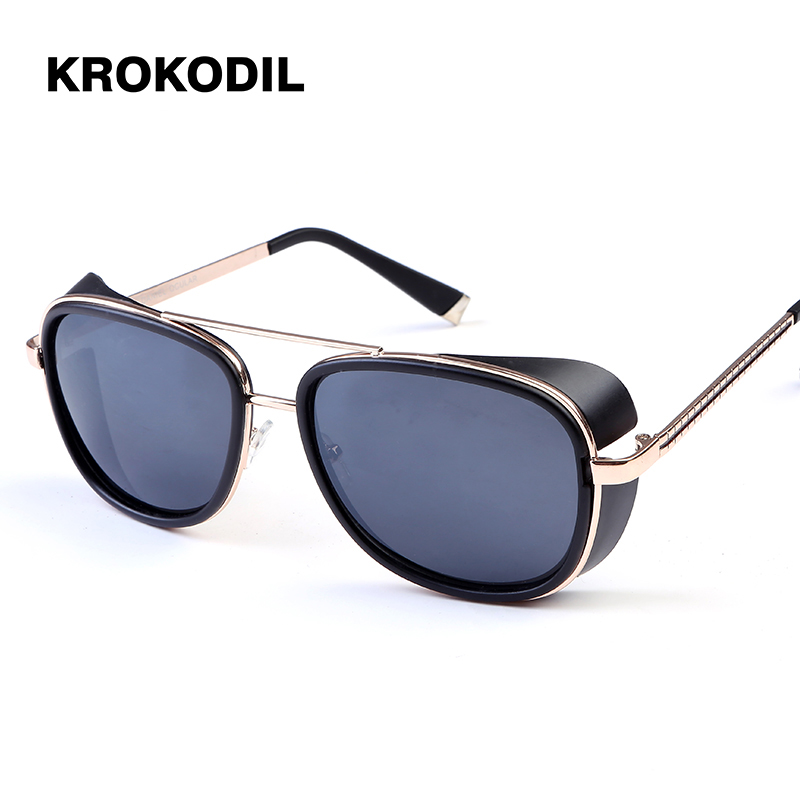 f803498bb0d Iron Man 3 RAY TONY Matsuda Sunglasses Men Coating Steampunk Men Vintage  Brand Designer Sun glasses
