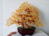 610 650g Feng Shui Natural Citrine Gem Stone Money Tree