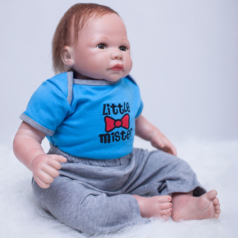 2017 Cotton Body Reborn Dolls Cute Silicone Babies Alive Brinquedos Boys Toys Gift For Children Reborn Baby Dolls Poupee 2017 new silicone reborn dolls for girls poupee reborn cotton body baby alive brinquedos baby doll toys lovely cartoon gift