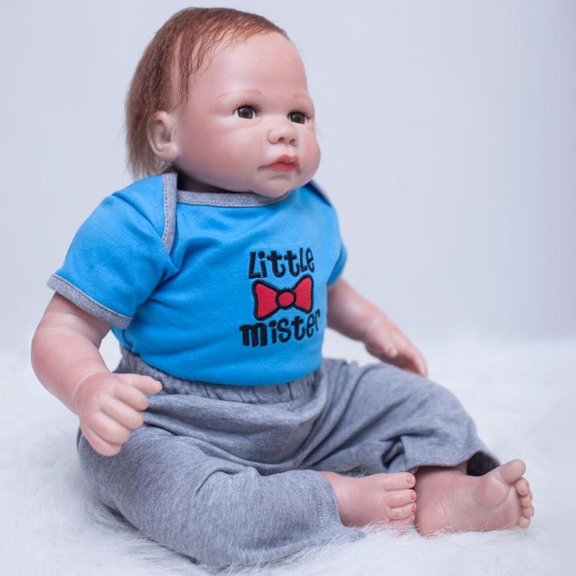2017 Cotton Body Reborn Dolls Cute Silicone Babies Alive Brinquedos Boys Toys Gift For Children Reborn Baby Dolls Poupee цена 2017