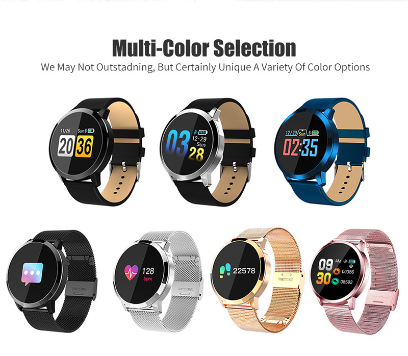 MAFAM Q8 Smart Watch OLED Color Screen Smartwatch Men Women Fashion Fitness Tracker Heart Rate Monitor For IOS Android Watch (24)