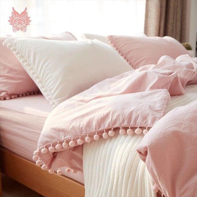 Princesse Style Rose Blanc Vert 100 Pur Coton Ensemble De Literie
