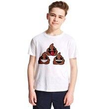 ff9709db6 Emoji Poop design funny t-shirt for teens boys girls fashion summer syle clothes  children outwear tops tees shit emoji t shirt