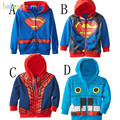 0-5Years/Spring Autumn Baby Coats Boys Outerwear Kids Clothes 100% Cotton Cartoon Hooded Infant Jackets Children Clothing BC1227