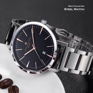 Image 5 - HAIYES mężczyźni oglądać luksusowe marki analogowe Auto data japonia ruch wodoodporne zegarki kwarcowe najlepszy prezent 2018 New Arrival zegarki