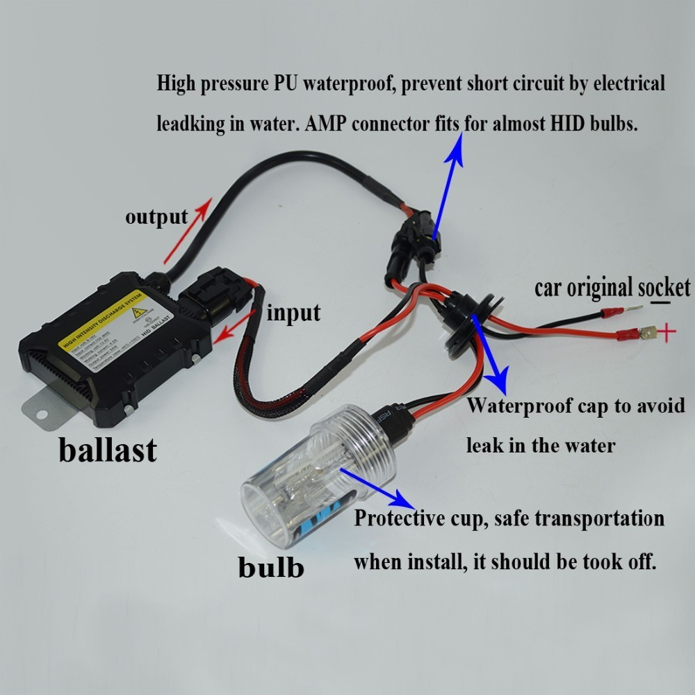 Vehicles Autos Lights and Bulbs Kit HELIO HCANBUSBALLAST HID Headlight Kit High Intensity Discharge for Cars