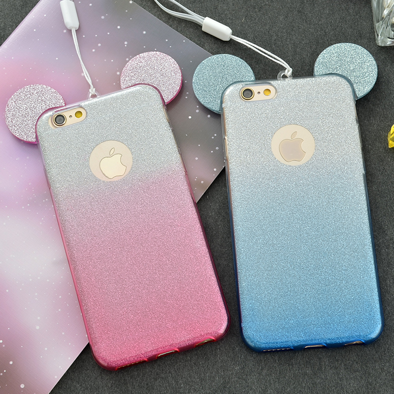 567cb6c9a96 3D Minnie Mickey Mouse Ears Case for Samsung Galaxy J7 2015 Grand Prime Case  Cover phone cases-in Fitted Cases from Cellphones & Telecommunications on  ...