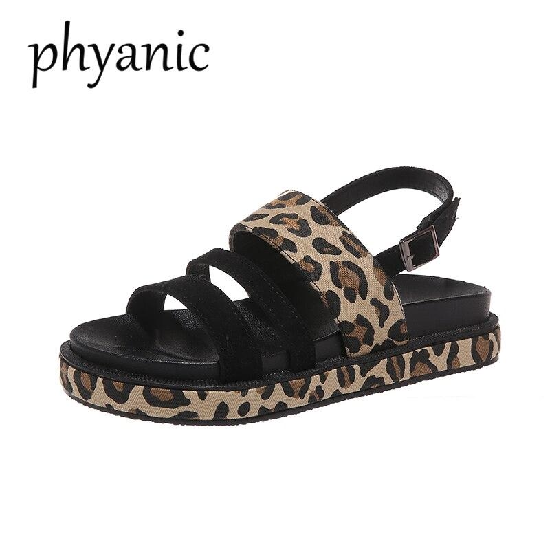 2019 Fashion Hot Selling Leopard open toe Buckle Casual women sandals Summer walking footwears middle heels sandalias mujer 17