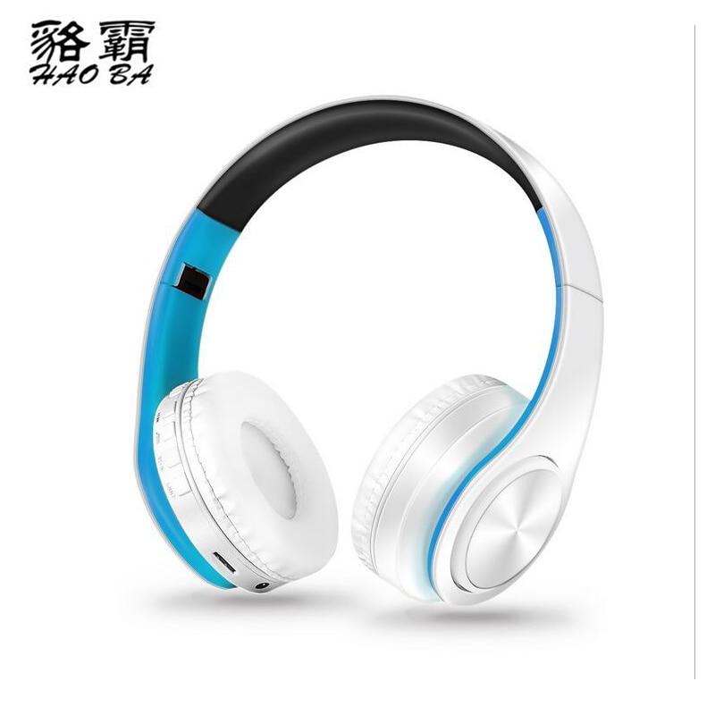 HAOBA Universal Bluetooth wireless fold headset for music and movement sport Card Universal Wireless Bluetooth Headset mi 313 migix movement music купить дешево в китае