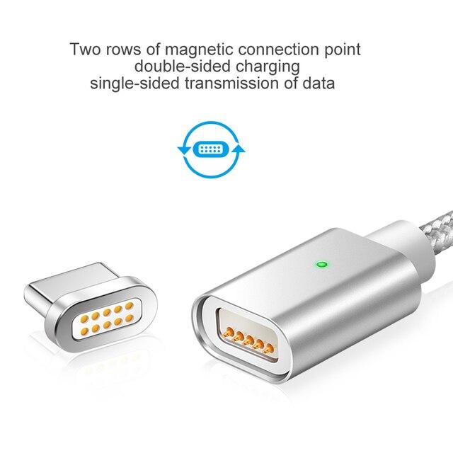 Elough E04 USB Type c câble magnétique pour Samsung galaxy s8 note8 plus téléphone portable chargeur rapide aimant type-c câble de charge USB