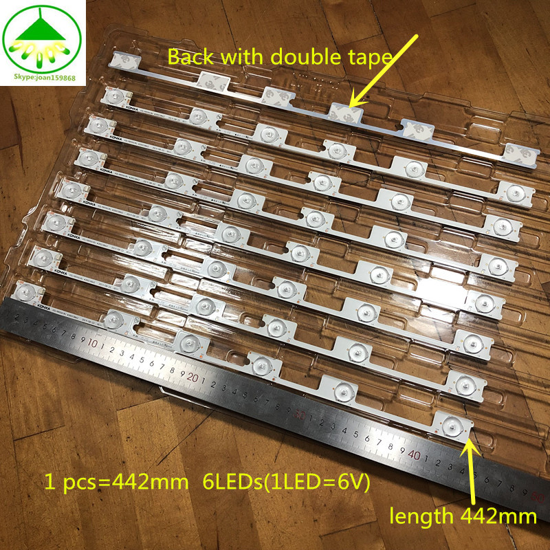 12 Pcs/Lot 100% New Good Quality  LED Backlight Bar Strip For KONKA KDL48JT618A/KDL48SS618U 35018539 6 LEDS(6V)