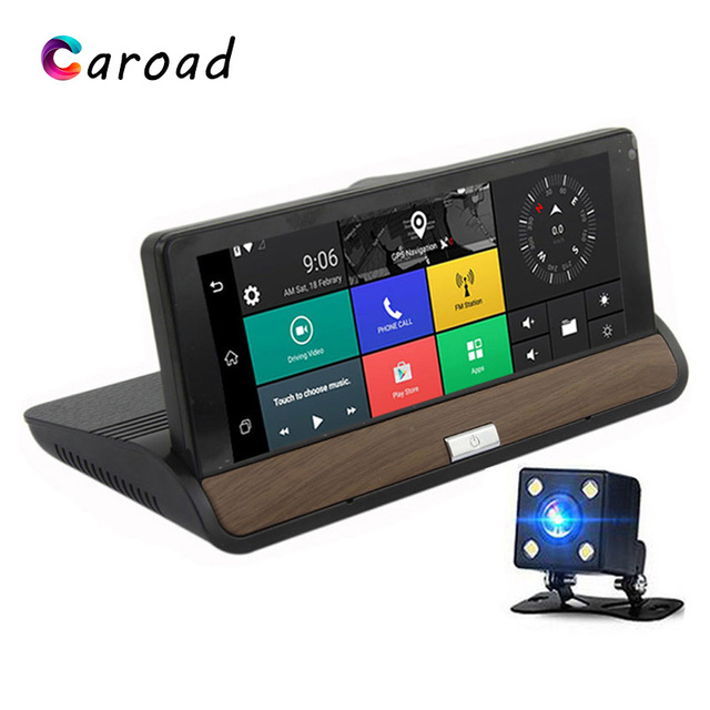 Car Dash Camera GPS Navigation Android 5.0 3G WIFI Full HD 1080P Video Recorders Dual Lens Car DVR Bluetooth Dashboard Camera