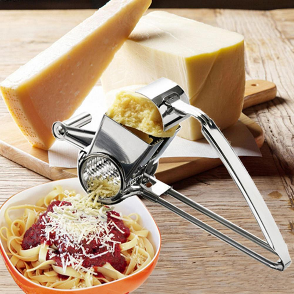 1pc Stainless Steel Hand Rotation Cheese Grater Multifunction Kitchen Tools Safe Fondue Chocolate Lemon Cooking Baking