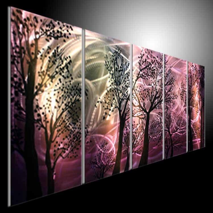 Abstract modern metal wall art painting sculpture original ...