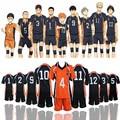 Voleibol Adolescente 9 Hot Anime Trajes Cosplay Haikyuu Karasuno High School de Estilos! Outfit Uniforme Camisas e Calças