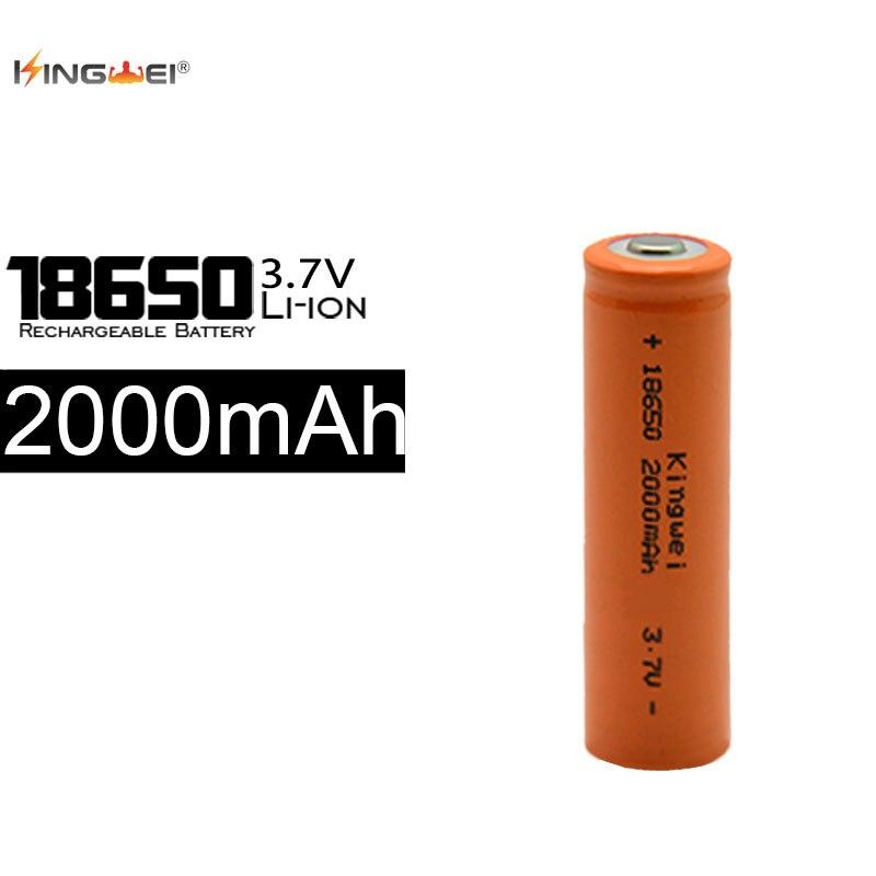 KingWei 100 pièces Piles Rechargeables 2000 mAh 18650 Lithium Li-ion 3.7 v Batterie pour lampe de poche LED