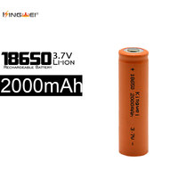 Kingwei 100 шт. Аккумуляторы 2000 мАч 18650 литий ионный 3.7 В Батарея для светодиодный фонарик