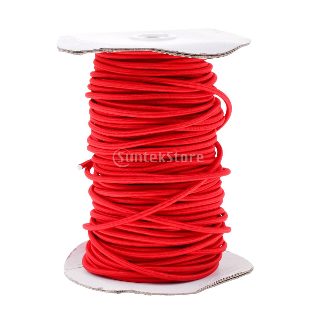Red 4mm Marine Bungee Rope Shock Cord Car Truck Roof Racks Trailers Boats Kayaks Tie Down 0.5 1 2 3 20 30 50 75m ethernet cable