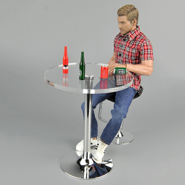 Pub Bar Table Chair Stool Beer Bottles For Barbie 1 6 Dolls 12