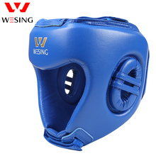 weising aiba  approved boxing head guard microfiber leather