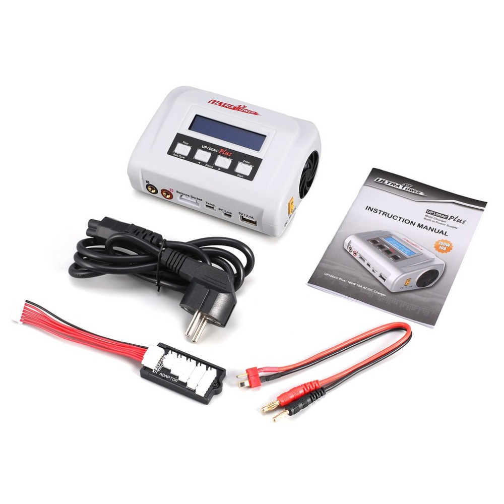 ULTRA POWER UP100AC 100W LiIo/LiPo/LiFe/LiHv Power Charger Balance Charger/Discharger LCD Display for RC Car Drone Helicopter zz ultra power up100ac ac dc plus 100w balance charger