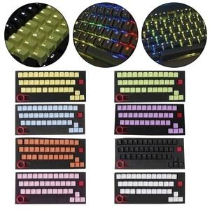 Image 3 - Klawisze PBT 37 klawisze podświetlane z podwójnym strzałem Translucidus do klawiatury mechanicznej