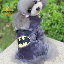 Batman Canine Garments Winter Heat Pet CAT Canine Style Garments Hoodie Coat Cute Jumpsuit 4 Leg Clothes