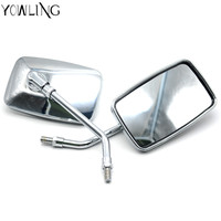 YOWLING Motorcycle Mirror Universal Motorbike Replacement Parts Rear View Mirrors 10mm 8mm On Sales Big Size Rearview Mirrors