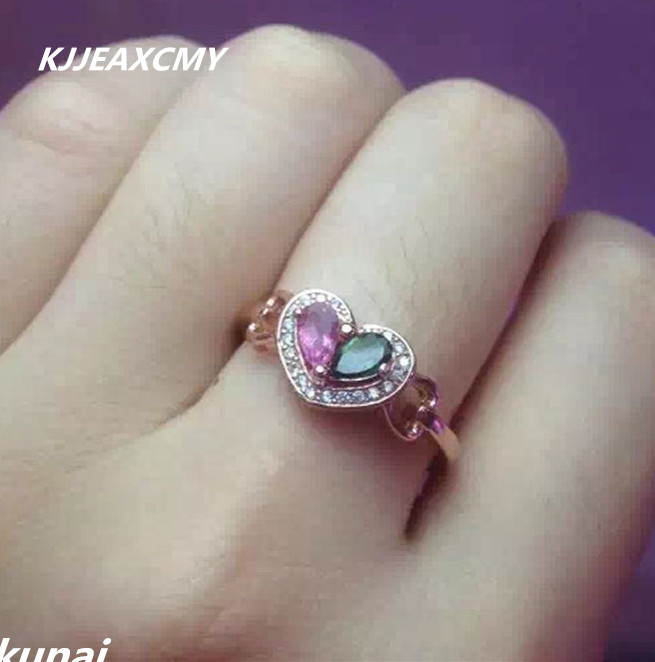 KJJEAXCMY Fine jewelry Colorful hand ornaments, natural tourmaline, womens rings, 925 silver ornamentsKJJEAXCMY Fine jewelry Colorful hand ornaments, natural tourmaline, womens rings, 925 silver ornaments