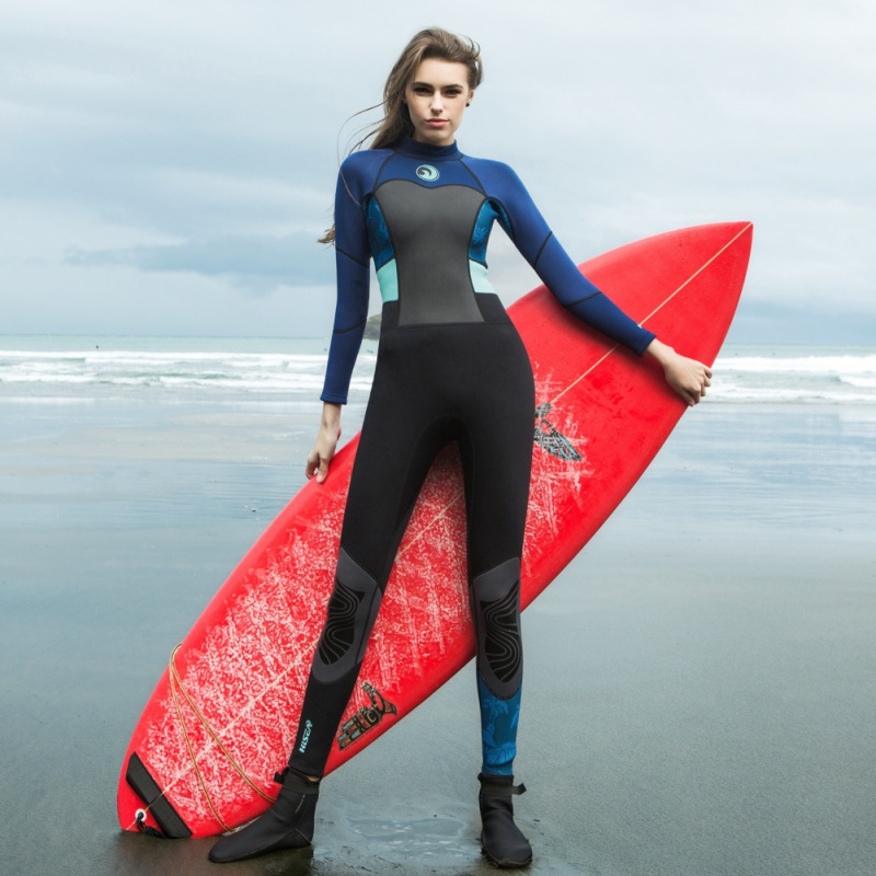 0.5mm Slim One-piece Women' Wetsuits Swimwears Diving Suits Long Sleeves Surfing Rash Guards Snorkeling Jellyfish Clothing Swims