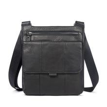 Vintage Erste Schicht Aus Echtem Leder Lässig Reisetasche männer Umhängetaschen Kleine Umhängetasche Reißverschluss Pack Black & Brown für Option